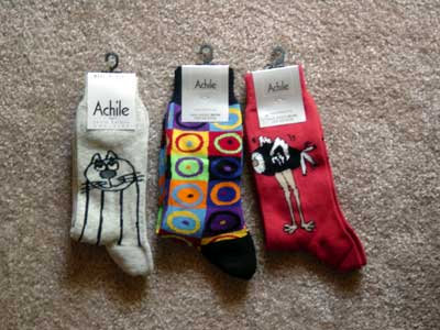 ted's latest achile sock purchases