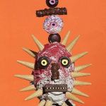 crazy mask made of candy