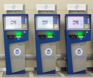 Global Entry machines at an airport